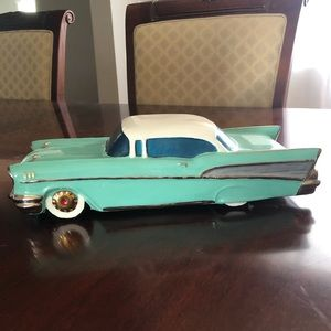 Vintage ceramic car made by renowned sculptor